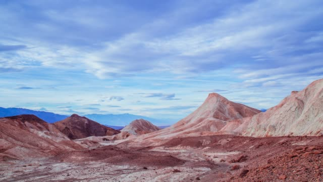 Time Lapse - Beautiful Cloudscape over Mule Trail in Death Valley - 4K