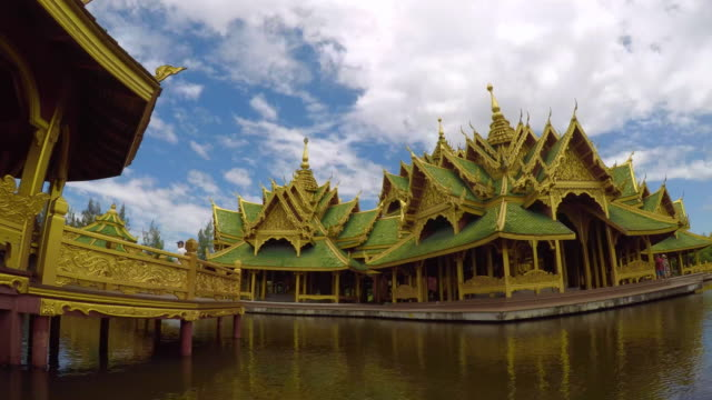 Time Lapse Beautiful Temples On The Water , Thailand video