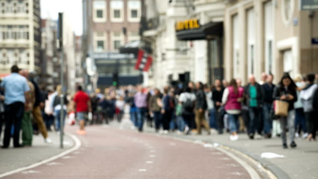 time lapse bicycle commuters and pedestrians in Amsterdam 4K time lapse bicycle commuters and pedestrians in Amsterdam. Amsterdam is the world's most busy cycling. amsterdam stock videos & royalty-free footage