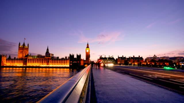 4K time lapse Big Ben and Trafalgar Square  in London, UK video
