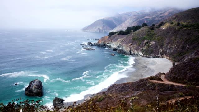 Time Lapse - Big Sur, Coastline of California video
