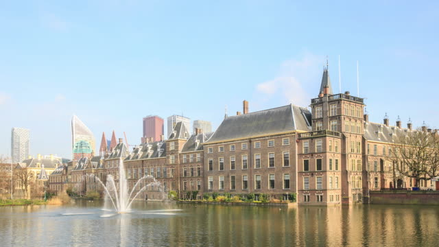 4K Time Lapse : Binnenhof Palace video