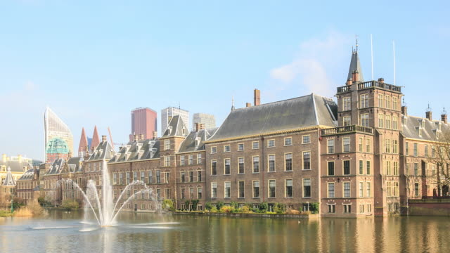stockvideo's en b-roll-footage met 4k time-lapse: binnenhof palace - den haag