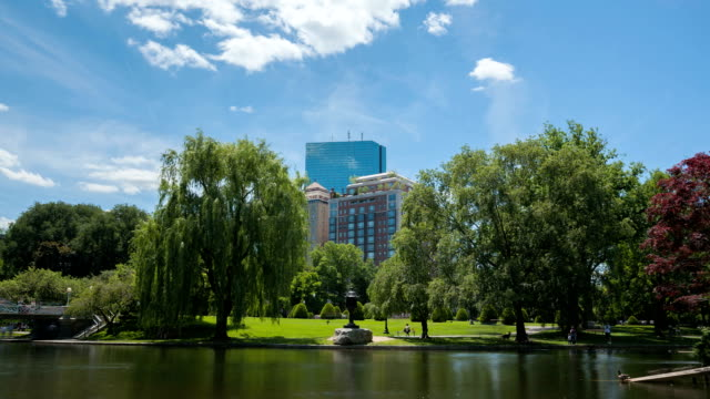 Time lapse Boston Public Garden video