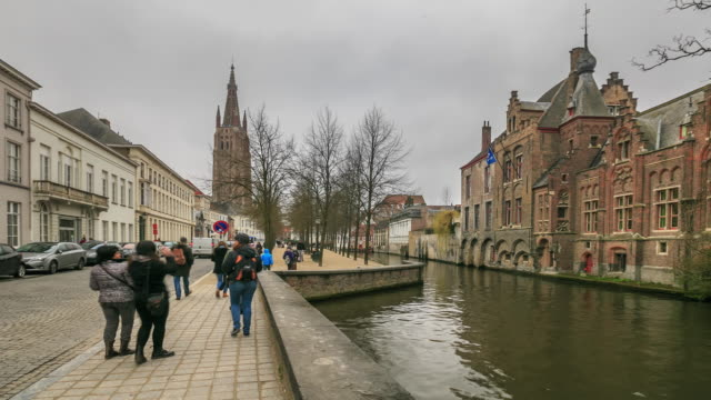 4K Time Lapse : buildings in Bruges video