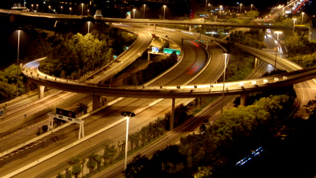 Time Lapse Busy Highway Interchange - Stock Video video