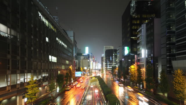 Time Lapse - Busy Tokyo street with rain #3 video