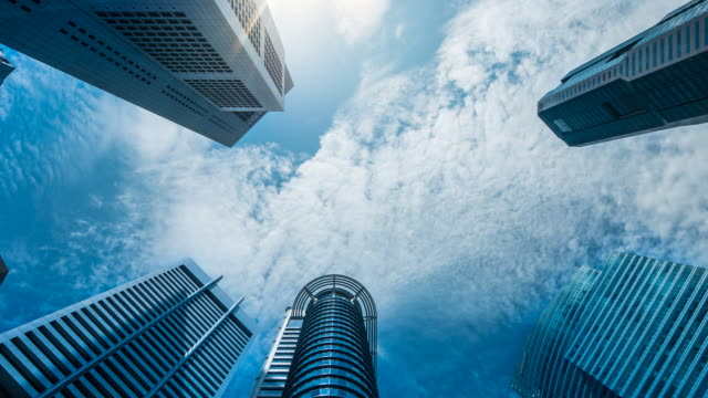 4K Time Lapse : Central Business Singapore, Zoom out video
