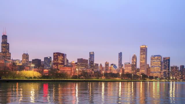 4 K Zeitraffer : Die Skyline von Chicago – Video