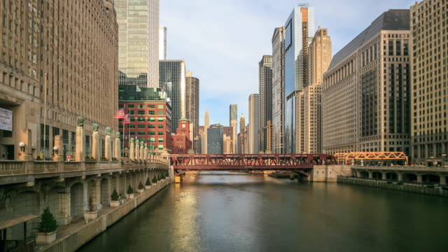 4K Time Lapse : Chicago skyline video