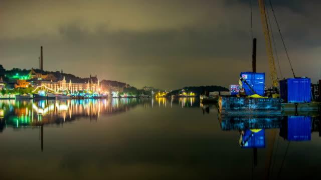 HD Time Lapse: City Lake at Night video