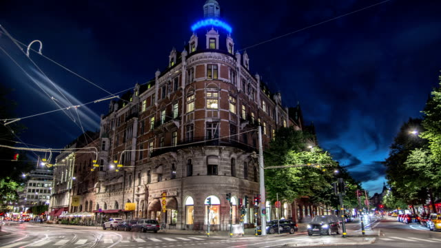 HD Time Lapse: City Streets in Stockholm video
