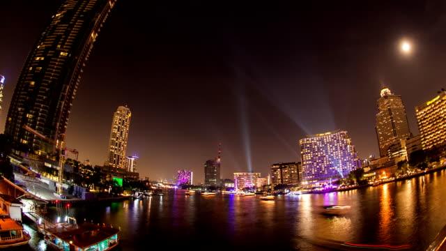 Time lapse city twilight video
