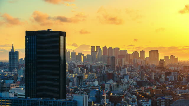 4K Time lapse Cityscape at tokyo citi of Japan video