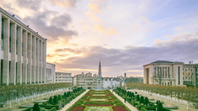 4K Time Lapse : Cityscape Brussels video