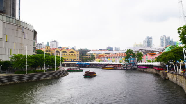 Time lapse Clarke quay in noon