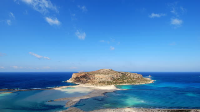Time lapse clip of shadows and clouds in Balos lagoon video