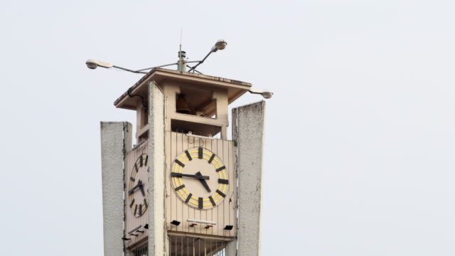 Time lapse Clock Tower Trang Thailand