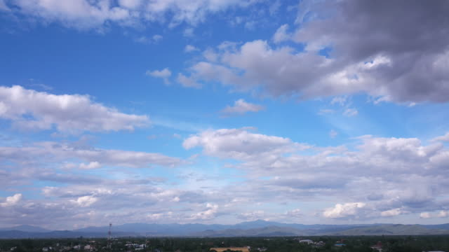 Time lapse, cloud and mountain view video