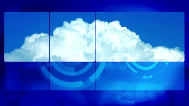 vídeos de stock, filmes e b-roll de lapso de tempo de nuvens e futurista azul fundo movimento - meteorologia