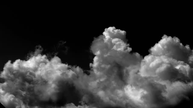 time lapse clouds background - sfondo nero video stock e b–roll