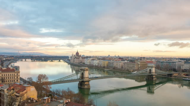 WS Time lapse Clouds moving over cityscape and Danube River,Budapest,Hungary Time lapse Clouds moving over cityscape and Danube River,Budapest,Hungary. Time Lapse. hungary stock videos & royalty-free footage