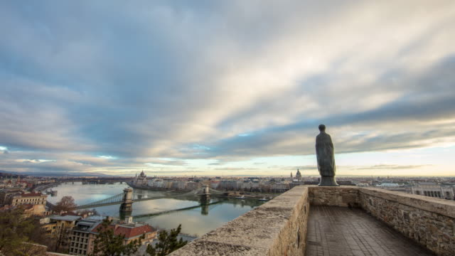 WS Time lapse Clouds moving over cityscape,Budapest,Hungary Time lapse Clouds moving over cityscape,Budapest,Hungary. Time Lapse. hungary stock videos & royalty-free footage