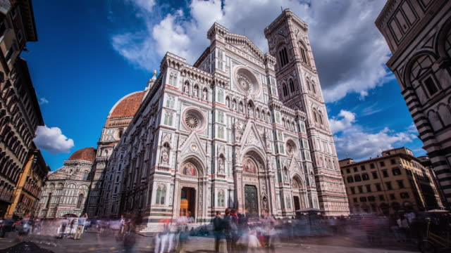 Time Lapse - Clouds over Duomo Santa Maria del Fiore - Florence Italy Time Lapse - Clouds over Duomo Santa Maria del Fiore - Florence Italy renaissance architecture stock videos & royalty-free footage