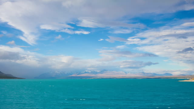 Time Lapse - Cloudscape of Lake  Pukaki, New Zealand video