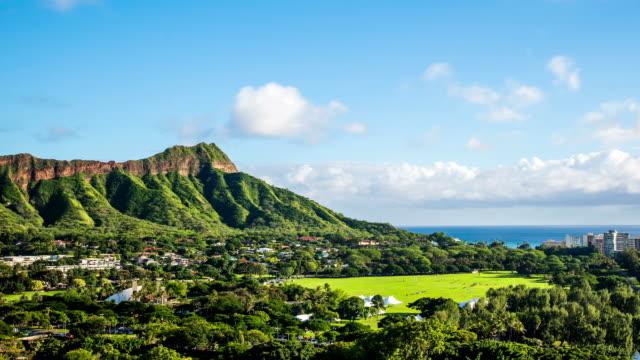 Time Lapse - Cloudscape over Diamond Head in Oahu Hawaii video