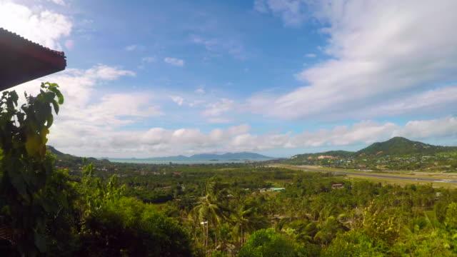 Time Lapse Cloudscape Over 'Ko Samui' Town , Thailand video