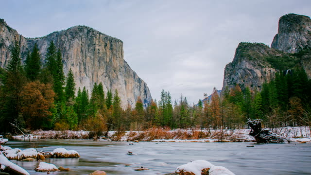 Time Lapse - Cloudy Day in Yosemite Valley - 4K