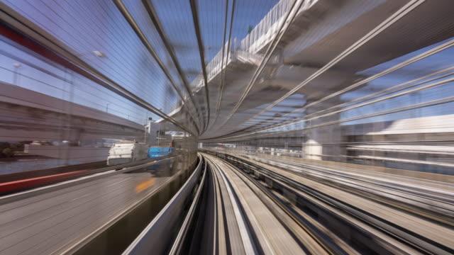 タイムラプス-通勤電車で疾走東京 - 列車点の映像素材/bロール