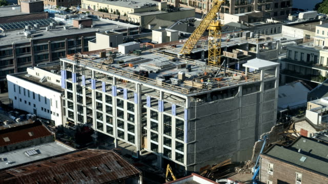 Time Lapse Construction Aerial Aerial time lapse video of a construction site in New Orleans. foundation make up stock videos & royalty-free footage