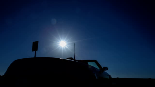 Time lapse convertible sun rising