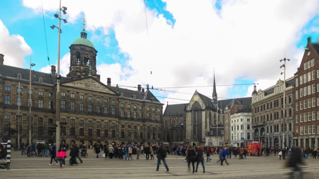 4K Time Lapse : Dam Square Amsterdam video