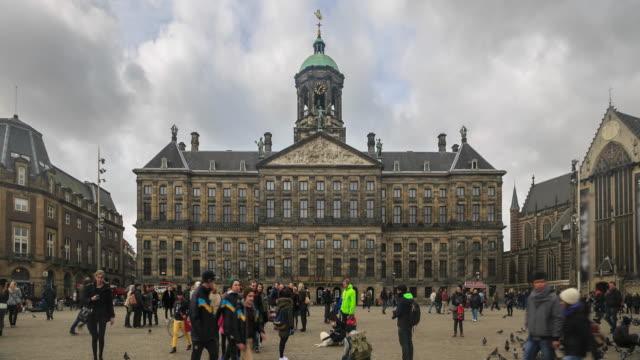 4K Time Lapse : Dam Square Amsterdam video