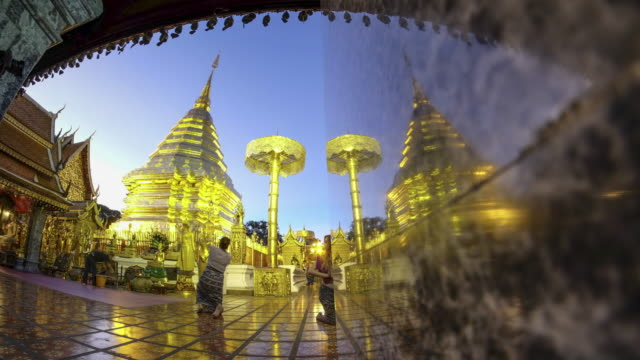Time Lapse Day to Night Wat Phra That Doi Suthep video