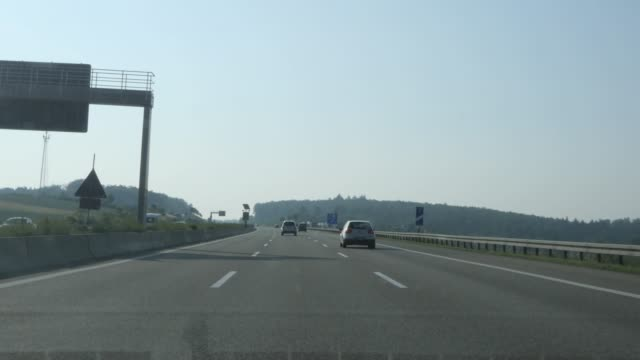 Time Lapse drive on A8 from Pforzheim to Leonberg Time Lapse drive on A8 from Pforzheim to Leonberg on a Sunday morning with no traffic autobahn stock videos & royalty-free footage