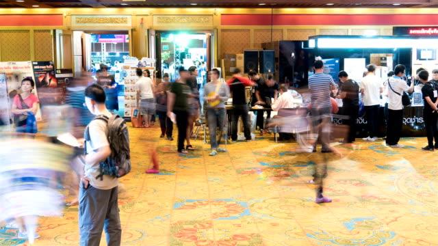 vídeos y material grabado en eventos de stock de lapso de tiempo tecnología para eventos. - exhibir