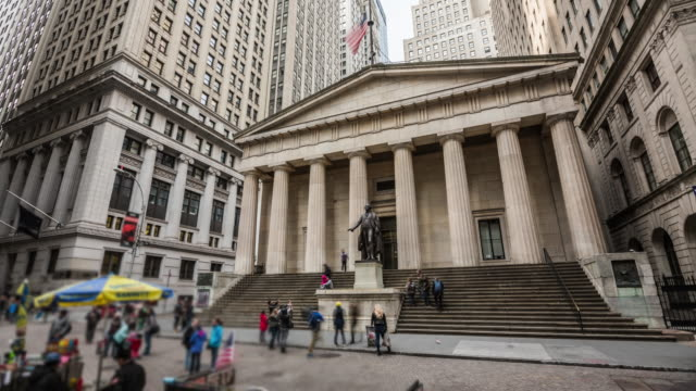 Time Lapse: Federal Hall Wall Street New York video