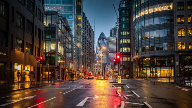 Time Lapse: Financial district of London