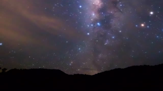 time lapse footage of milky way video