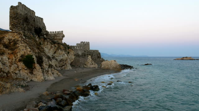 Time lapse from Medieval Castle in the Mediterranean coastline video