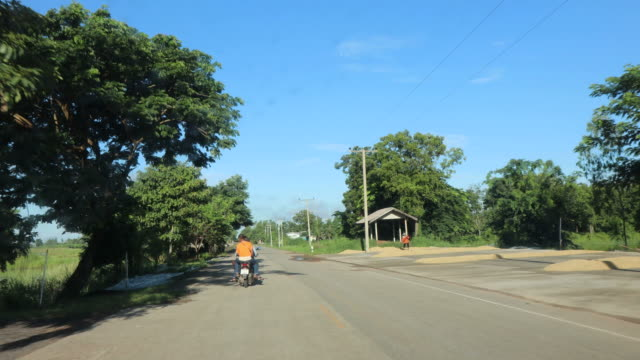 Time Lapse front car on rural Thailand road. video