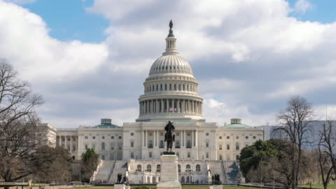 4K Time lapse front of the United States Capitol Building with reflecting pool, Capitol Hill, Washington, D.C., USA, Architecture and Attraction concept Time lapse front of the United States Capitol Building with reflecting pool, Capitol Hill, Washington, D.C., USA, Architecture and Attraction concept, 4k clip usa stock videos & royalty-free footage