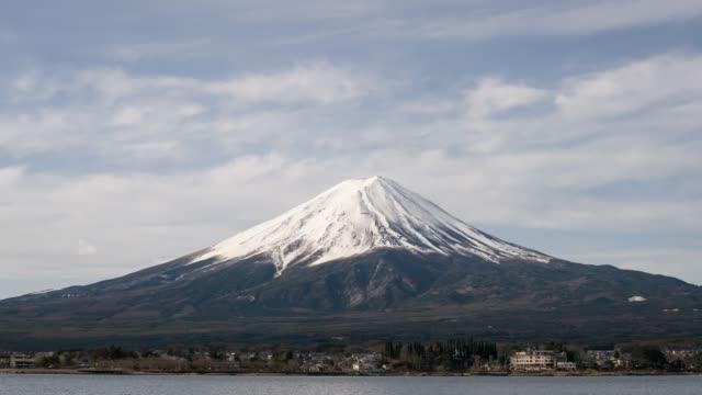 vidéos et rushes de montagne de time lapse fuji - fuji yama