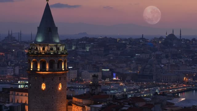 Time lapse Galata tower in İstanbul, Turkey Time lapse Galata tower in İstanbul, Turkey istanbul stock videos & royalty-free footage
