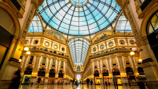 Lapso de tiempo Galleria Vittorio Emanuele II en Milán - vídeo