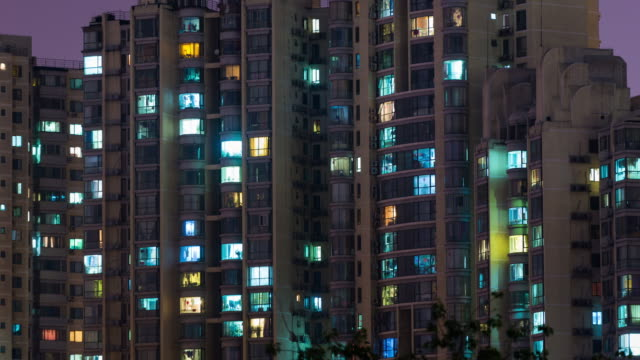 Time Lapse- Grid Apartment in Beijing video